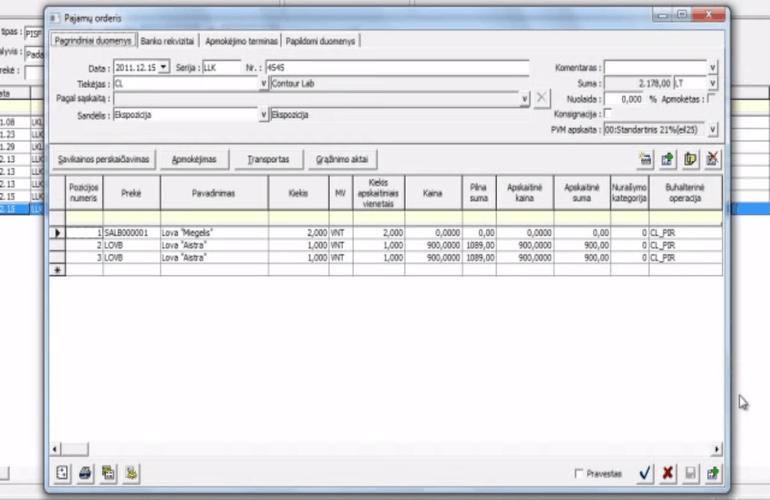 prekybos išlaidų valdymo sistema)